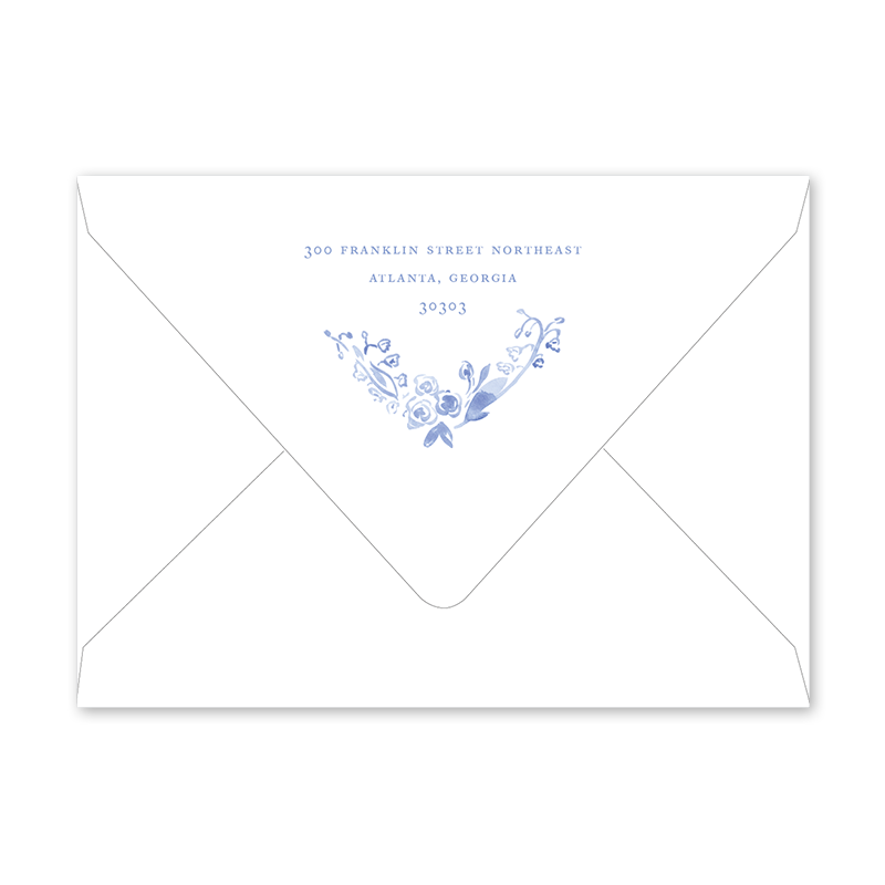 Rosalie Landscape Birth Announcement Envelopes