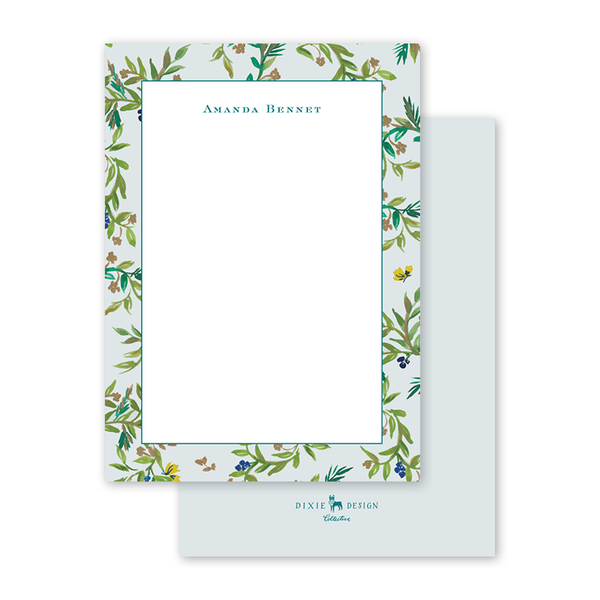 Butterfly Garden Border Notecard