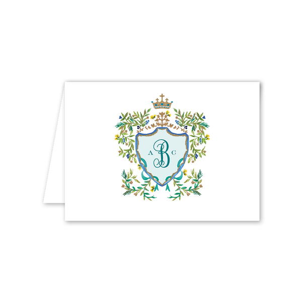 Butterfly Garden Crest Folded Notecard