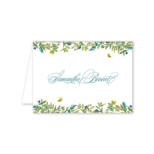 Butterfly Garden Folded Notecard
