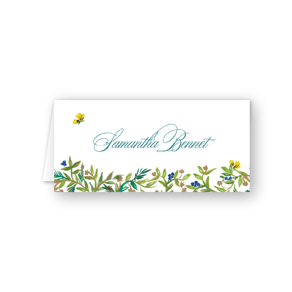 Butterfly Garden Place Card