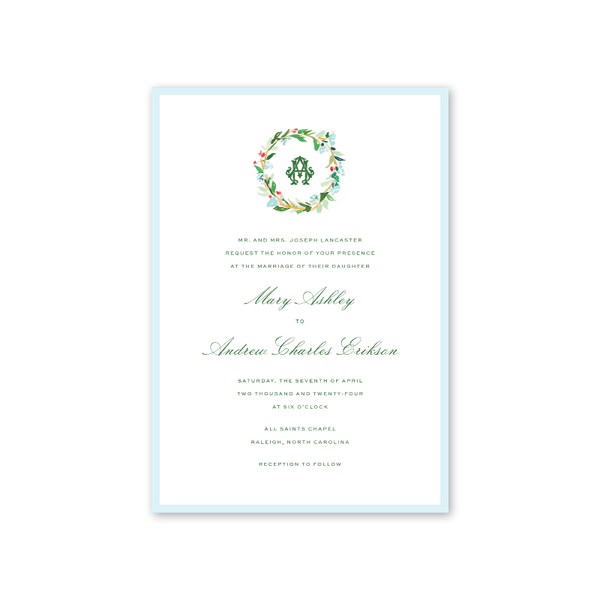 Chintz Wreath Wedding Invitation