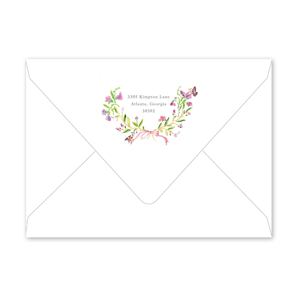 Butterfly Crest Bridal Shower  Envelopes