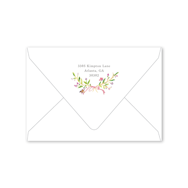 Butterfly Crest Folded Notecard Envelopes