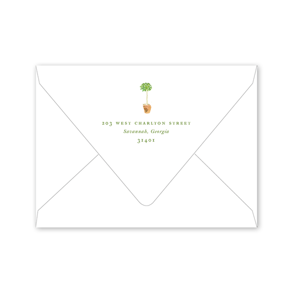 French Topiaries Bridal Shower Envelopes