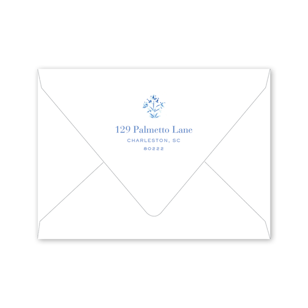 India Block Print Blue Notecard Envelopes