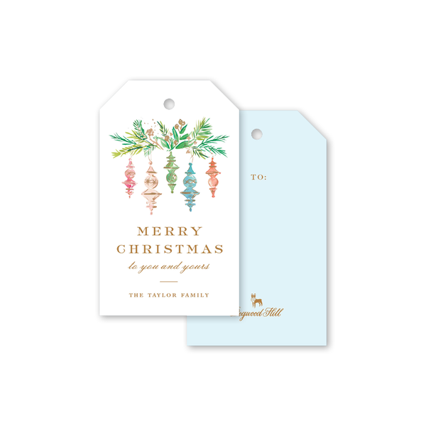 Finial Ornaments Gift Tags