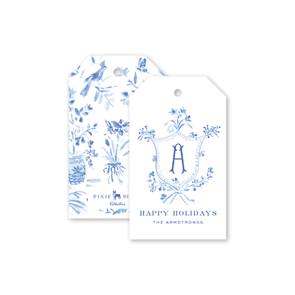 Heron Chinoiserie Crest Gift Tags