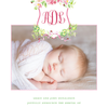 Pink Cosmos & Ladybug Birth Announcement