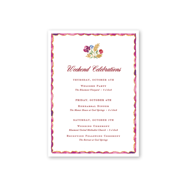 Burgundy Border Details Cards