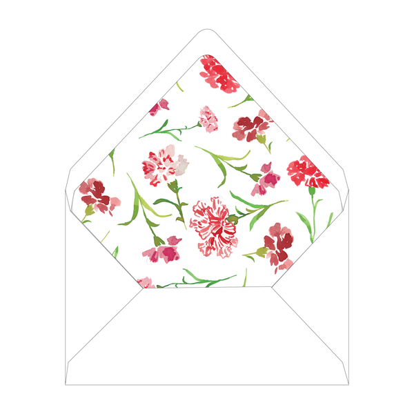 Carnations Bridal Luncheon Floral Liner
