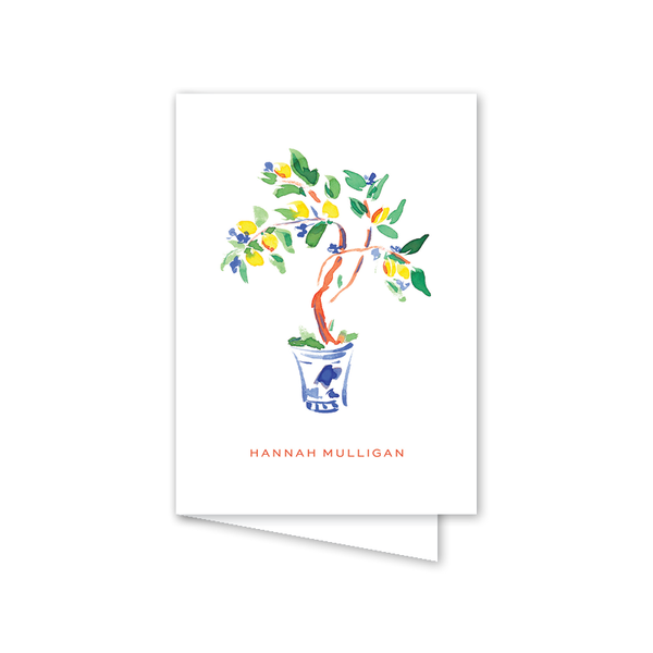 Chic Chinoiserie Folded Notecard