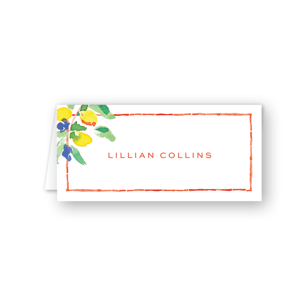 Chic Chinoiserie Place Card