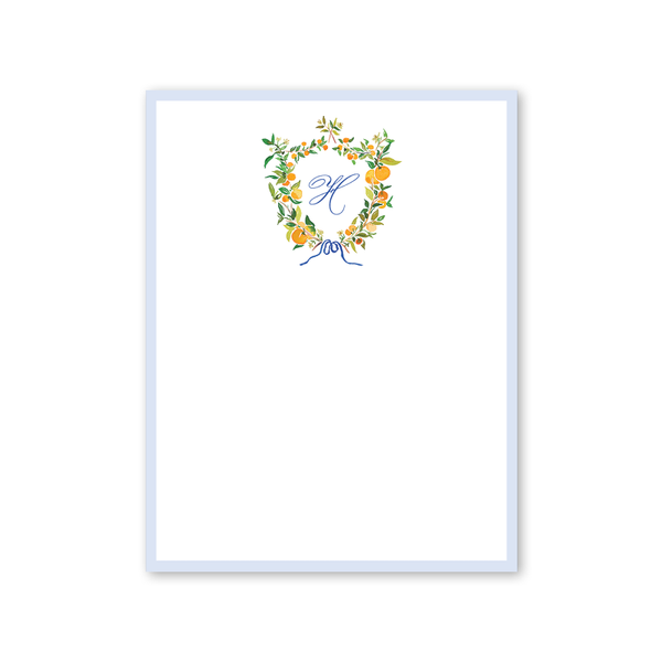 Clementine Blue Notepad