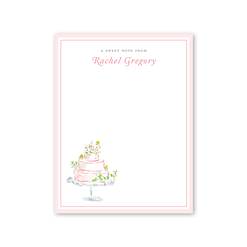 Garden Tales Cake Notepad