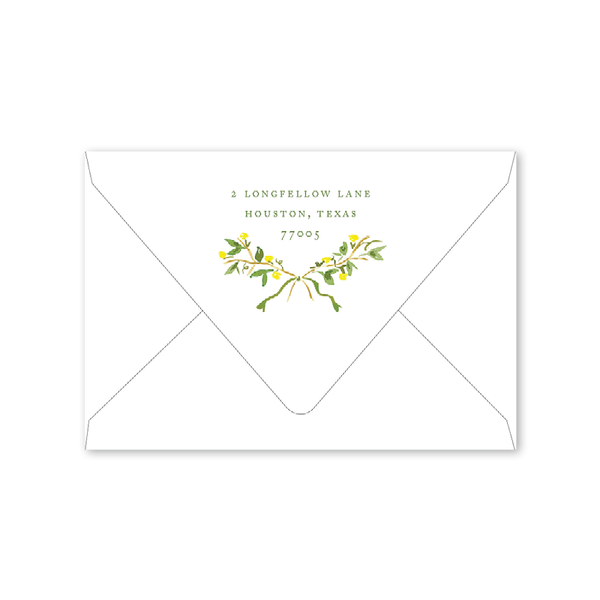 Garden Tales Crest Folded Notecard Envelopes