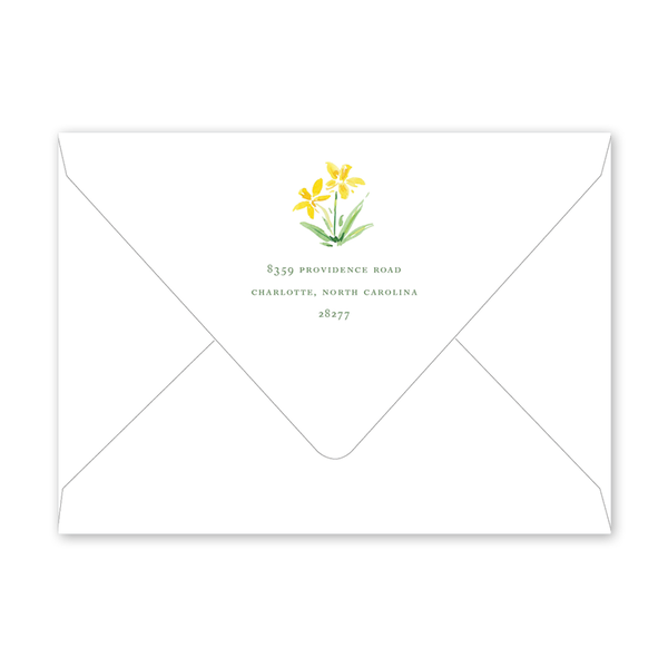 Garden Tales Daffodils Envelopes
