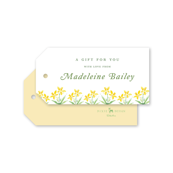 Garden Tales Daffodils Border Gift Tags