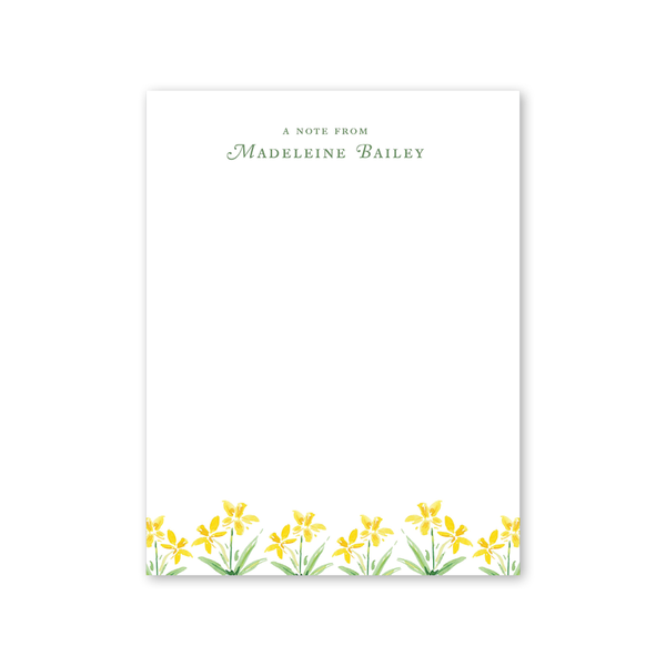 Garden Tales Daffodils Notepad