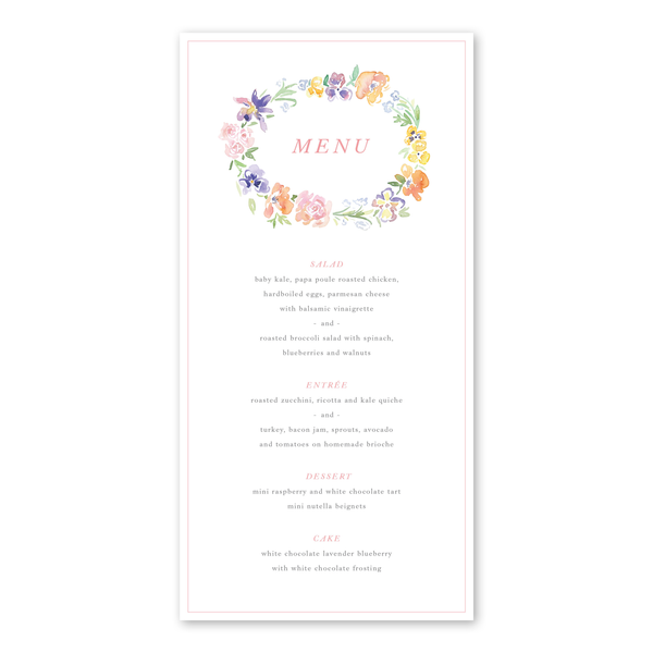 Garden Wreath Menu