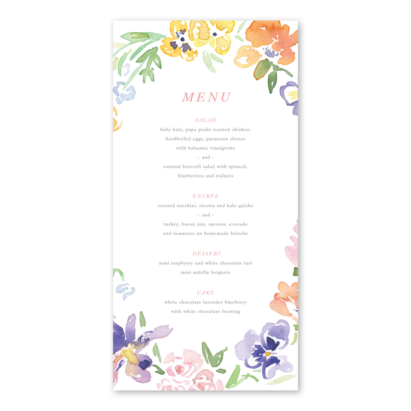 Garden Wreath II Menu