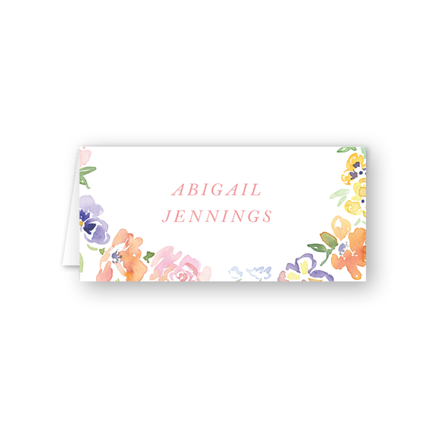 Garden Wreath Place Card