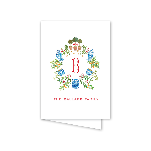 Holiday Hills Crest Folded Notecard