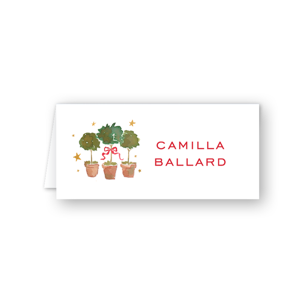 Holiday Hills Topiary Place Card