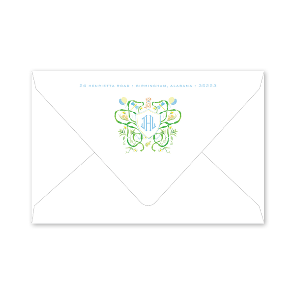 Puppy Tails Birth Announcement Envelopes