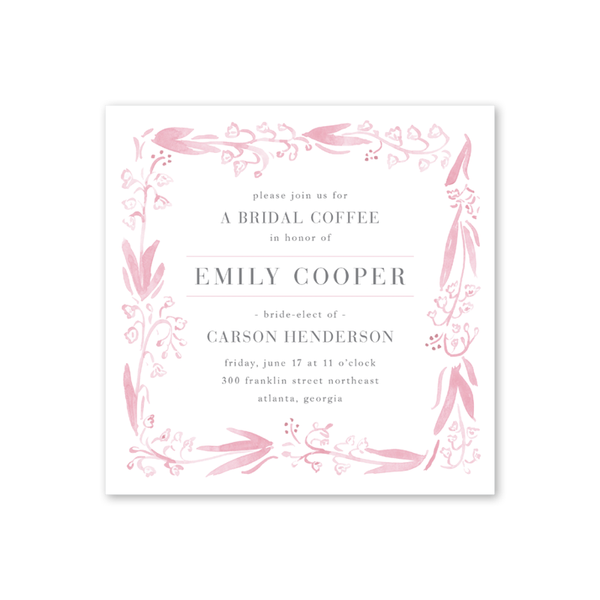 Pink and White Bridal Coffee