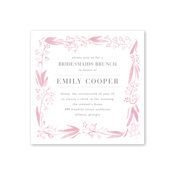 Personalized Stylish Invitations For Tea Brunch Luncheons