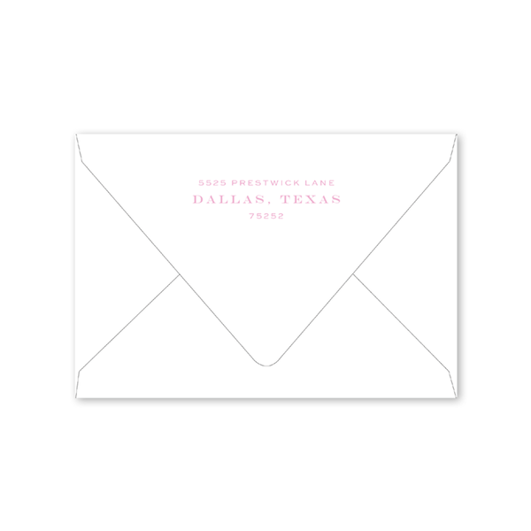 Treillage Rose Folded Notecard Envelopes