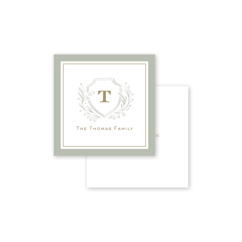 Country Club Crest Calling Card
