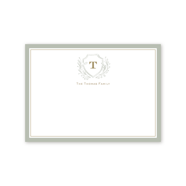 Country Club Crest Notecard