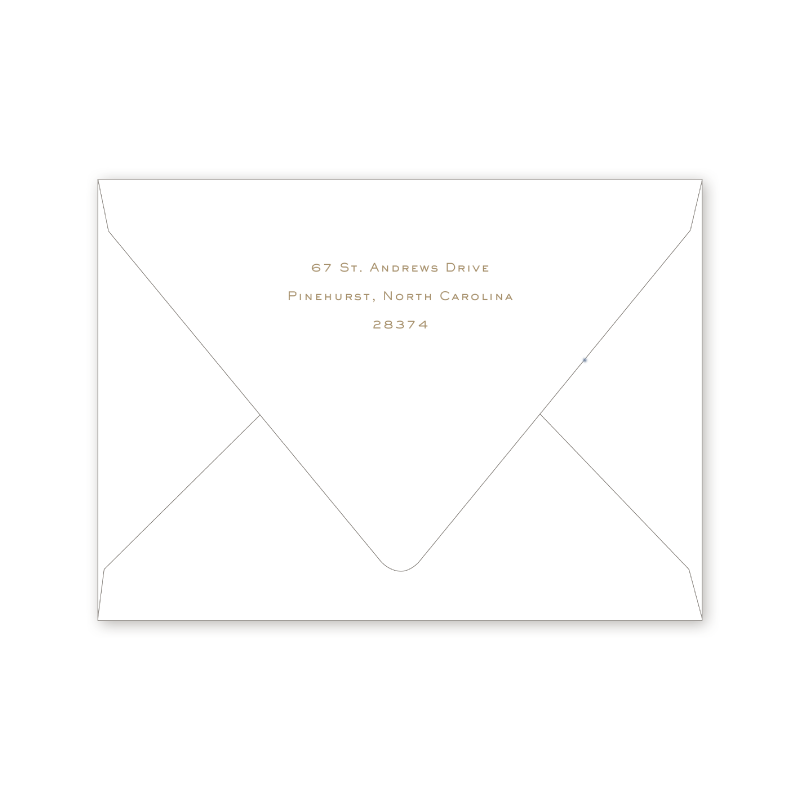 Country Club Crest Notecard Envelopes