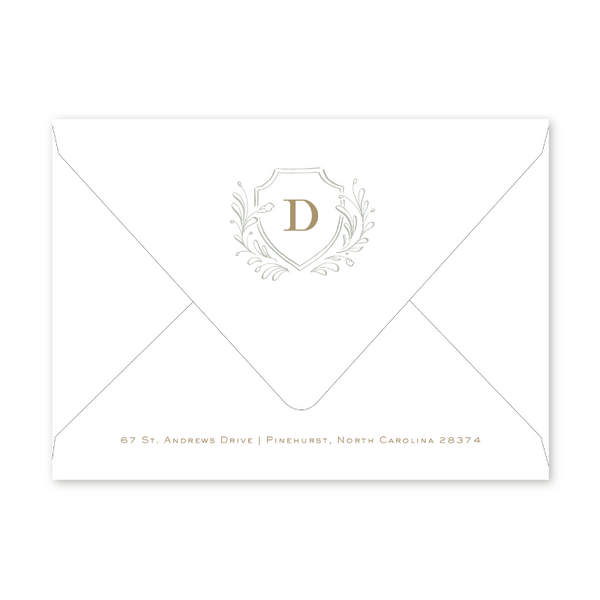 Country Club Crest Dinner/Party Envelopes
