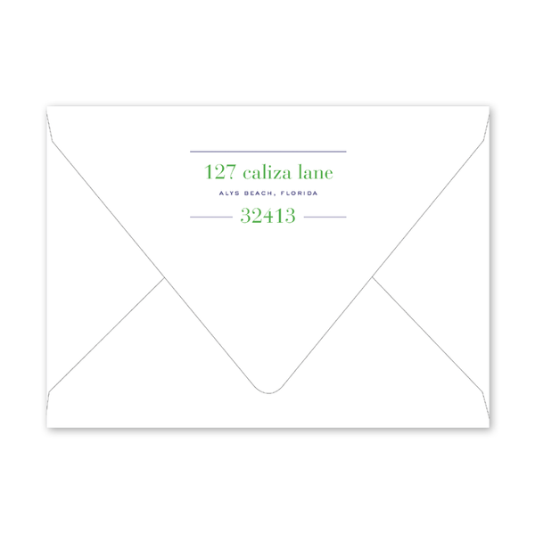 Croquet Crest Birthday Envelopes