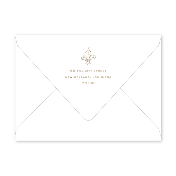 Fleur-de-lis Dinner/Party Envelopes
