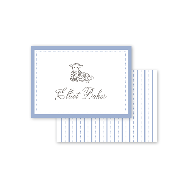 Little Lamb Blue Calling Card