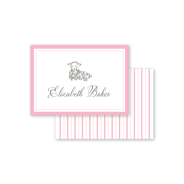 Little Lamb Pink Calling Card