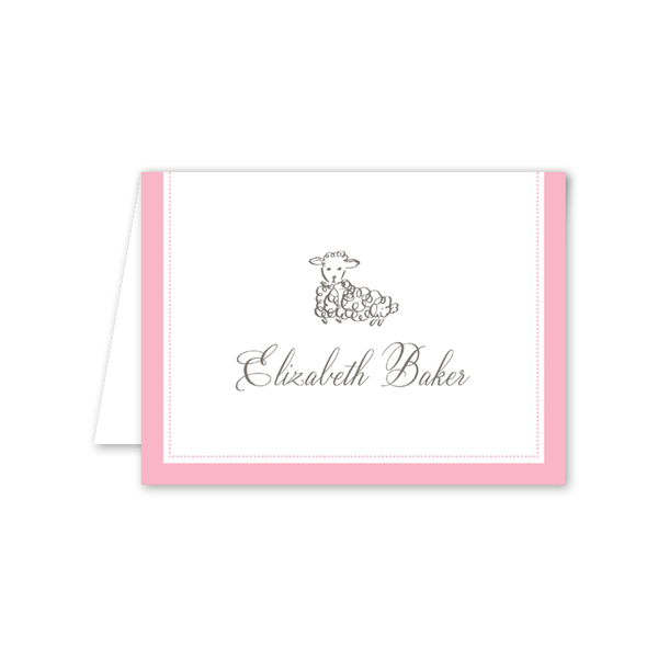 Little Lamb Pink Notecard