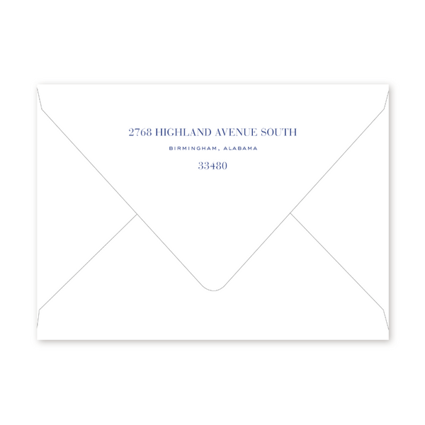 Watercolor Balloons Blue 40th Birthday Envelopes