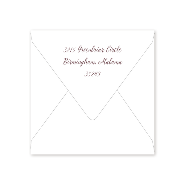 Garden Watercolor Shower Envelopes