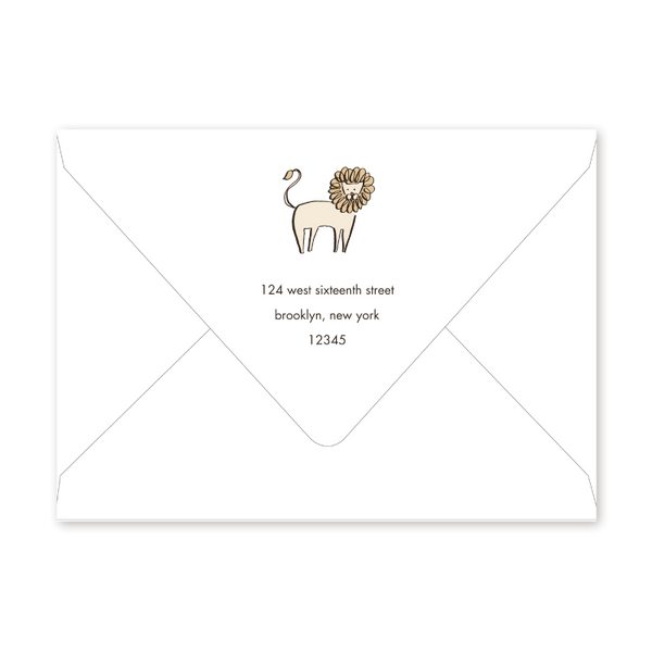 Shower Animals Baby Shower Envelopes