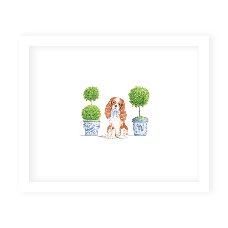 Dash and Topiary Art Print