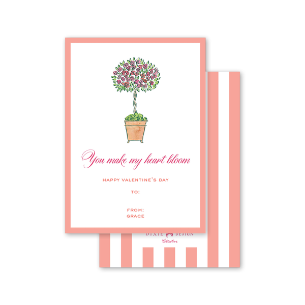 Heart Bloom Topiary Valentine