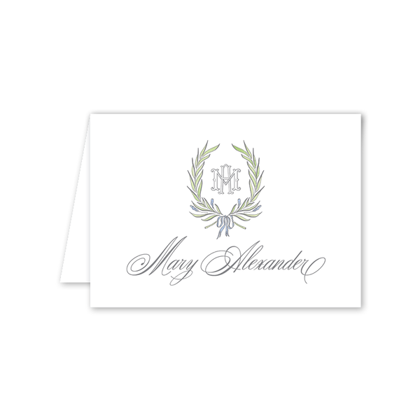 Alexandra Wreath Folded Notecard