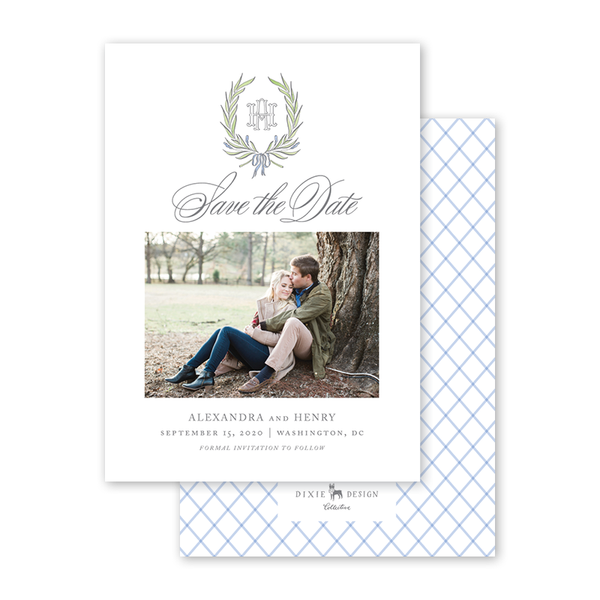 Alexandra Wreath Photo Save The Date