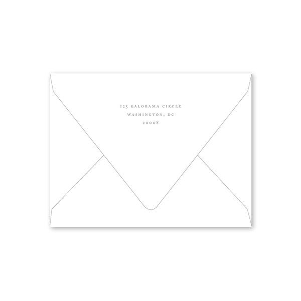 Alexandra Wreath Save the Date Envelopes