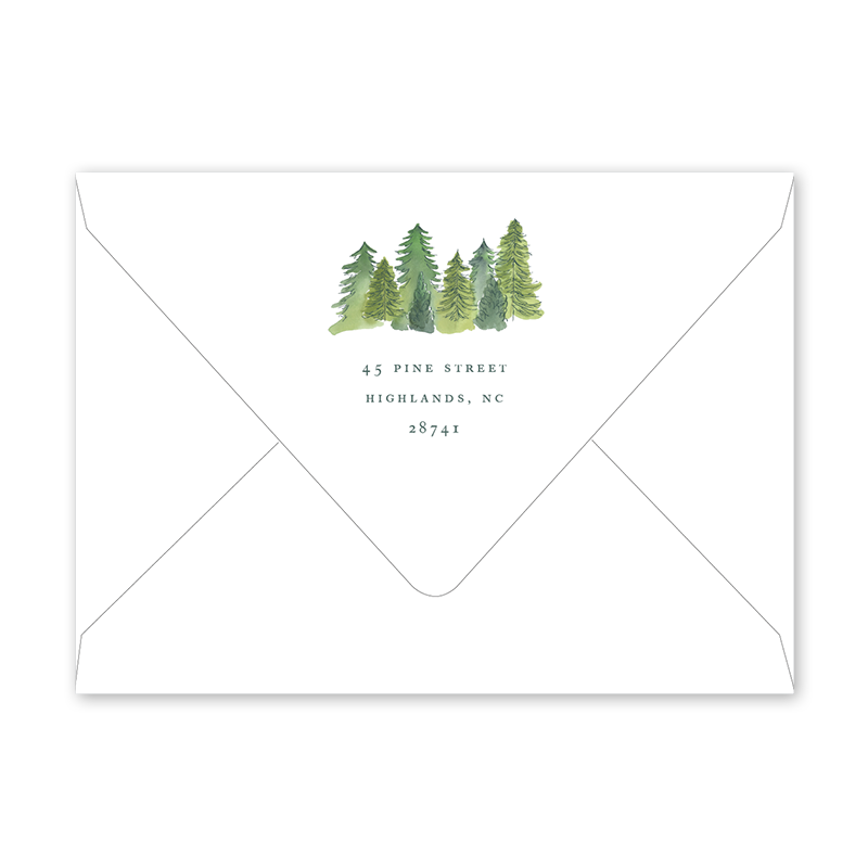 Alpine Holiday Christmas Forest Envelopes